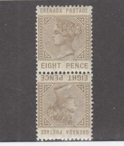 GRENADA # 24a-25a INVERTED PAIRS ONE STAMP HAS A SMALL THIN CAT VALUE $61