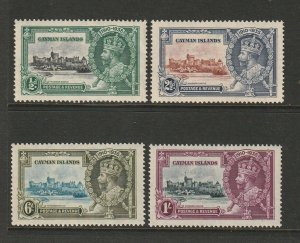 Cayman islands 1935 Silver Jubilee MM SG 108/111