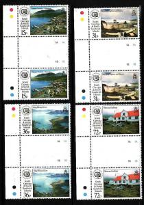 South Georgia-Sc#166-9-unused NH set in gutter pairs-Whaling