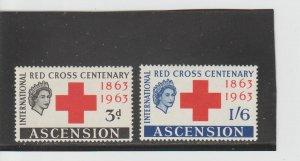Ascension  Scott#  90-91  MH  (1963 Red Cross)