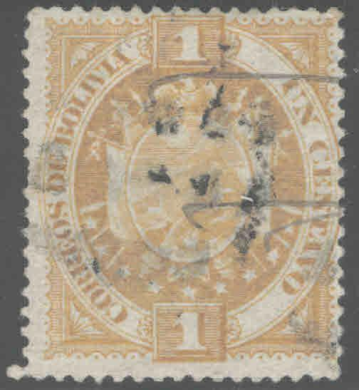 Bolivia Scott 40 Used 1887 stamp CV $1.25