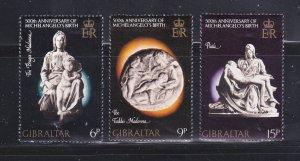 Gibraltar 326-328 Set MNH Christmas (C)