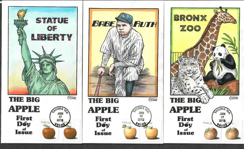 US Collins FDC SC#4727-4730 The Big Apple