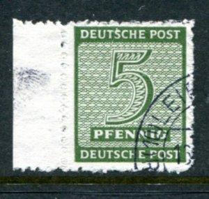 GERMANY SOVIET ZONE SAXONY POSTMASTERS MÜGELN 116AY VFU RARE