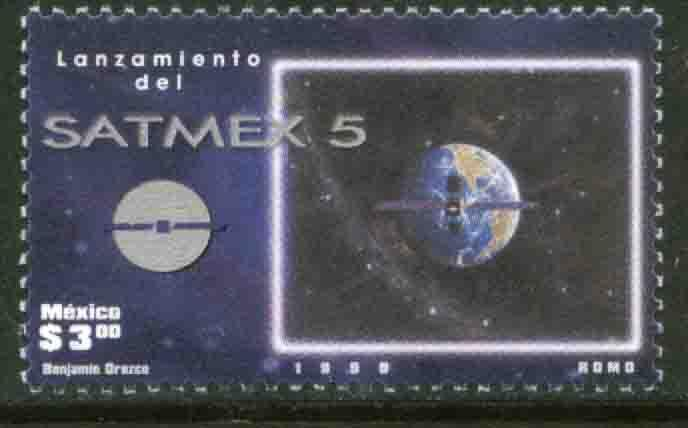 MEXICO 2117, Launching of Satellite Satmex 5. MINT, NH. F-VF.