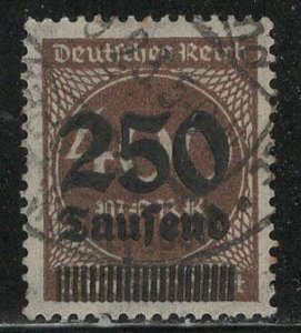Germany Reich Scott # 258, used, exp h/s