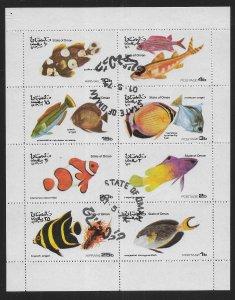 Oman Not Listed 1974 Fish Mimi-Sheet CTO