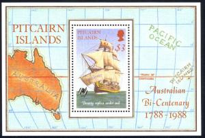 Pitcairn Islands Sc# 297 MNH Souvenir Sheet 1988 Australia 200th