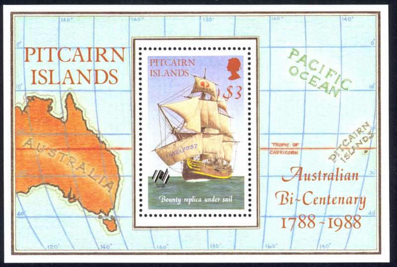 Pitcairn Islands Sc# 297 MNH Souvenir Sheet 1988 Australia 200th