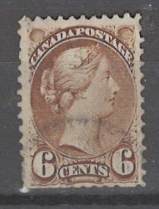 COLLECTION LOT # 3192 CANADA #39 FAULTY 1872 CV=$27.50