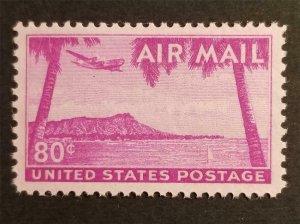 C46 80c Hawaii Diamondhead Stamp MNH OG Mint Never Hinged Unused G1391