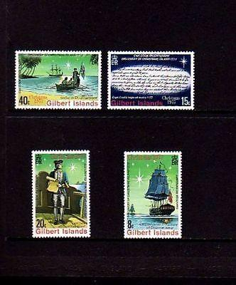 GILBERT IS - 1977 - CHRISTMAS - SHIP - RESOLUTION - CAPTAIN COOK - MINT SET!