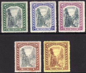 1917-19 Bahamas Queen Staircase full set  Wmk 3 ML-LMH Sc# 58 / 62 CV $135.25