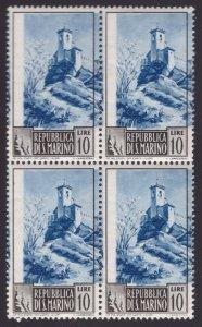 San Marino, 10 lire Paesaggi del 1949 quartina nuova ** centro spostato   -CK92