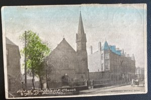 1905 Baillieston England Picture Postcard Cover To Coatesville PA USA Postage Du
