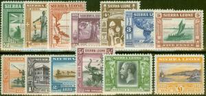 Sierra Leone 1933 Wilberforce set of 13 SG168-180 Fine Lightly Mtd Mint