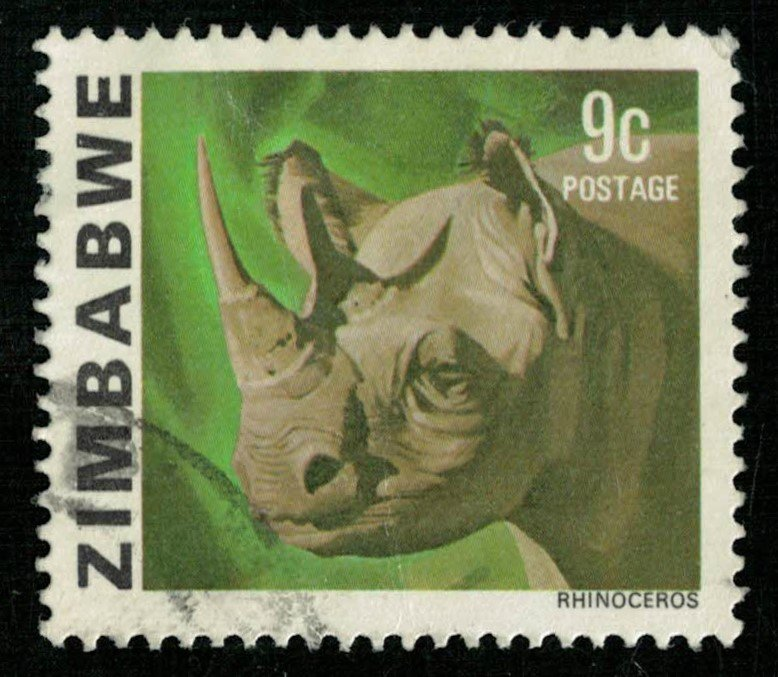 Animal rhinoceros, 9c (T-5140)