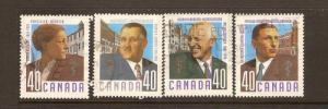 CANADA SET ON CANADIAN DOCTORS USED STAMPS LOT#212