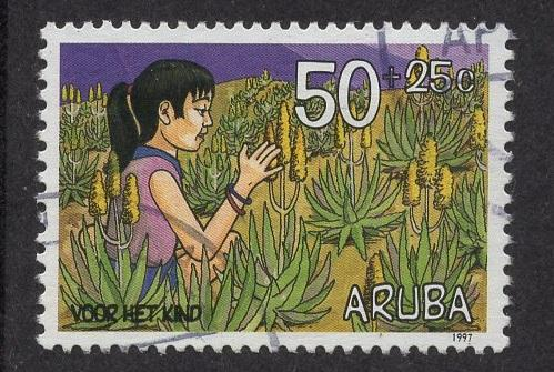 Aruba   #B48   used  1997 child welfare 50c