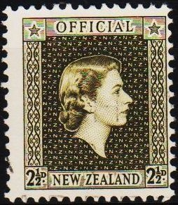 New Zealand. 1954 2 1/2d S.G.O162  Fine Used