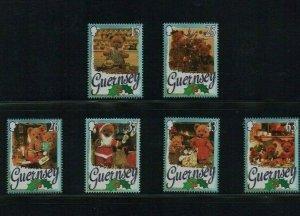 Guernsey: 1997, Christmas, Teddy Bears, MNH set