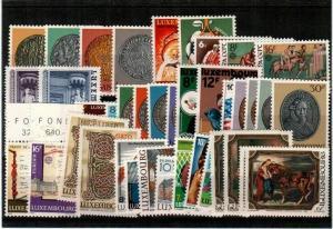 Luxembourg Scott 635 // 724 Mint NH sets (Catalog Value $40.25)