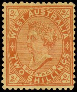 Western Australia Scott 84b, Perf. 12x12.5 (1911) Mint H F-VF, CV $77.50 M