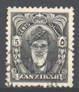 Zanzibar Scott 230 - SG339, 1952 Sultan 5c used