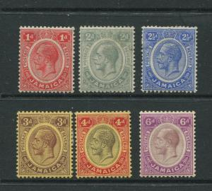 Jamaica #61,63-67 KGV  MLH  Scott CV. $15.00