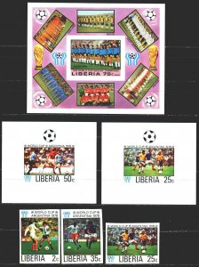 Liberia. 1968. 1061B-66B, bl90B + 6 suites. Football. MNH.