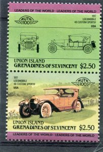 Union Island 1984 CAR LOCOMOBILE 1917 USA Pari (2v) Perforated Mint (NH)