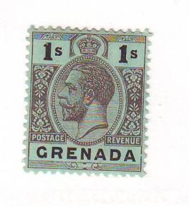 Grenada Sc 85b 1/ blk on grn GV stamp mint