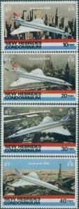 New Hebrides 1978 SG258-261 Concorde set MNH