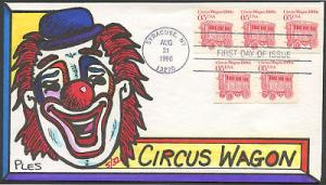 #2452 FDC HAND PAINTED  BLT35