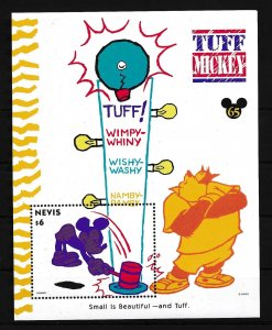 [23226] Nevis 1994 Disney 65th Birthday Mikey Mouse is tuff MNH