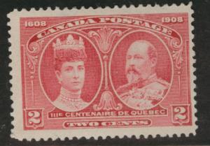 CANADA Scott 97 MH* 1908 Quebec Issue