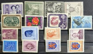 EDW1949SELL : LUXEMBOURG Nice collection of ALL VF, Mint OG CPLT sets. Cat $138.