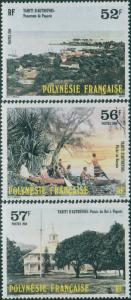French Polynesia 1986 SG477-479 Tahiti in Olden Days set MNH