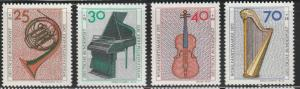 Germany, 1973 MNH Set Of 4 Semi-Postals, #'s B503-B506
