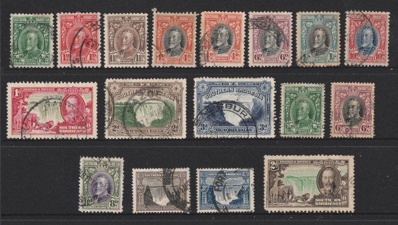 Sothern Rhodesia a small lot of used KGV