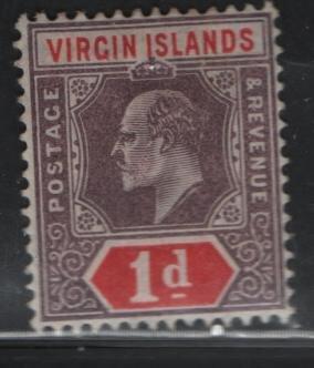 VIRGIN ISLANDS, 30, HINGED REMNANT, 1904, Edward VII
