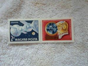 1969 HUNGARY MNH SOYUZ 4 & 5 COM. SET OF 3 STAMPS