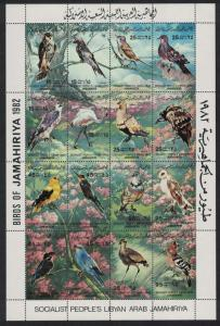 Libya Birds Sheetlet of 16v SG#MS1206 MI#1003-1018