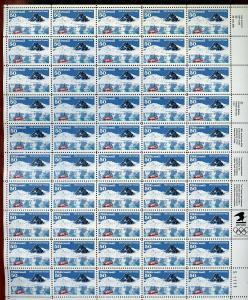 US SCOTT# C130 ANTARCTIC TREATY FULL SHEET OF 50 STAMPS MNH AS SHOWN
