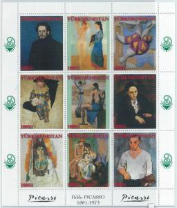 1950 - TURKMENISTAN, MINIATURE SHEET: Pablo Picasso, Arts