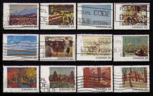 CANADA 1982 #955-966 30¢ CANADA DAY CPL SET OF 12 FINE USED CAT $11.80 NICE LOT