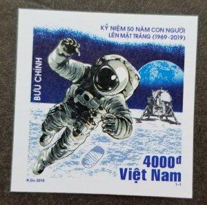Vietnam USA 50th Anniv Moon Landing 2019 Space Astronomy (stamp) MNH *imperf