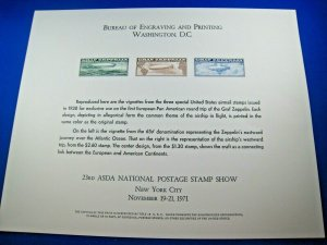 PHILATELIC SOUVENIR CARD - 1971 - ASDA SHOW - SCOTT #SC16 - LOT OF 2