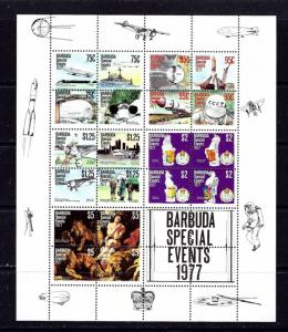 Barbuda 322a NH 1977 Anniversaries Min. Sheet