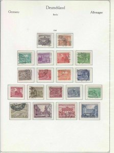 GERMANY BERLIN 1949  USED  STAMPS CAT £70  REF R4166